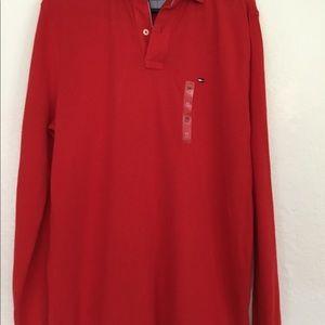 Tommy Hilfiger Shirts - NWT Tommy Hilfiigure long sleeve polo shirt